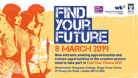Find Your Future 2019: Creative routes into media and entertainment